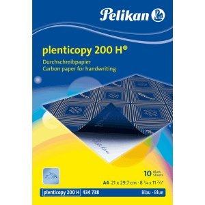 Pelikan Durchschreibpapier Plenticopy 200H A4 10 Blatt blau