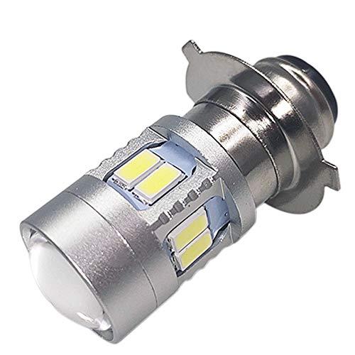 Ruiandsion P15D-25-3 LED Bulb 6000K White 6V-24V Super Bright 5730 12SMD Chips LED Bulb for Motorcycle Headlight (Pack of 1)