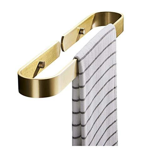 MRDAER Toallero Espacio Aluminio Toallero Toallero de baño Perchero Montado en la Pared Colgante Toallero Bar Organizador Estante de Almacenamiento de Cocina Toallero (Color: Gold, Size: 60cm)