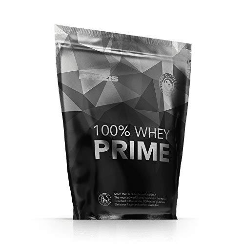 Prozis 100% Whey Prime 2.0 Suplemento Puro en Polvo, con un Perfil Completo de Aminoácidos y Rico en BCAA, Chocolate y Avellanas - 1000 g