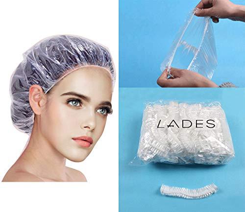 Einweg Duschhaube - 100 Stücke Haar Einweg Duschhaube Badekappe für Friseursalon bearbeitet Haarschutz Haarhaube für Salon, Spa, Reise, Hotel, Dusche