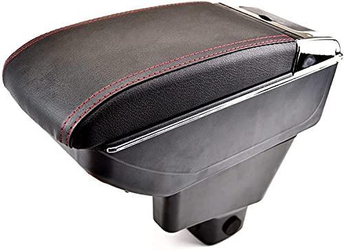 Coche Cuero Caja de Reposabrazos para Suzuki SX4 2007-2013 FIAT Sedici 2007-2013, Con Puerto USB Consola Central Doble Capa Apoyabrazos Almacenamiento Organizador Accesorios