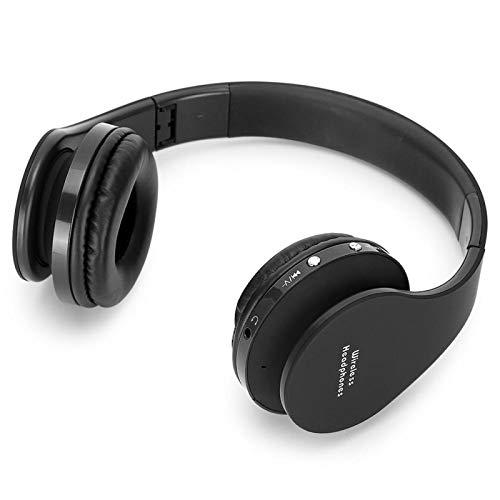 FOLOSAFENAR Auriculares Bluetooth de Apariencia Elegante y Suave Auriculares Bluetooth de diseño Plegable, para Escuchar música en Cualquier(Black)