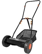 Cortacésped manual DELTAFOX - Cortacésped helicoidal con ajuste de altura - Ancho de corte de 350 mm - Saco colector de 18 litros - Funcionamiento manual ? Silencioso