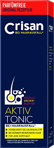Crisan Anti-Haarausfall System Aktiv-Tonic – Haarwasser mit L-Arginin für volles Haar/ 1er Pack (1x150ml)