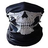 DIVISTAR Totenkopf-Schutzmaske für Motorrad, Polyester, für Snowboard/Skifahren