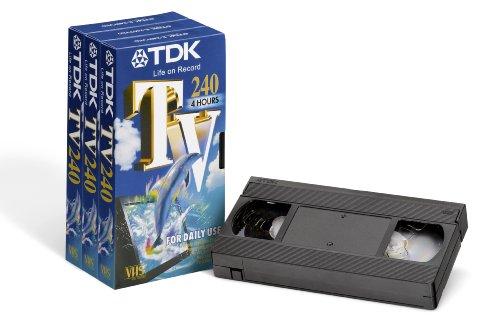 TDK T14569 VHS Videokassette TV-240 (3 Stück) 240 Minuten Laufzeit