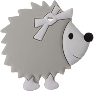 Biuuu 歯がため おしゃぶり シリコーン 授乳用ネックレス 授乳玩具 ハリネズミ (グレー)