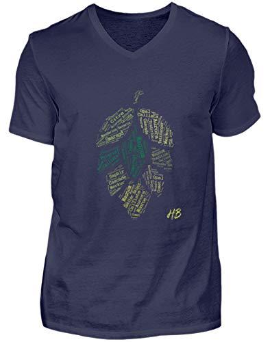 Shirtzshop - Camiseta con Cuello en V para Hombre, diseño