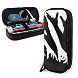 Cukyteck New Style Impressive Opticals Multifunction Canvas Leather Pencil Case Pen Bag Makeup Pouch