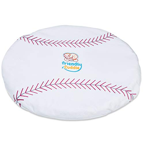 FRIENDLY CUDDLE Baseball Machine Washable Weighted Lap Pad for Kids 5 lbs. - Sensory Weighted Stuffed Lap Blanket for Toddlers Kids Adults with Sensory Processing Disorder - Home Classroom Travel