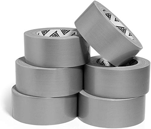 Lockport Heavy Duty Silver Duct Tape – 6 Roll Multi Pack – 30 Yards x 2 inch – Bulk Value Pack of Extra Strength, Thick, All Weather Tape - No Residue, Tear by Hand, Waterproof – Perfect for Repairs