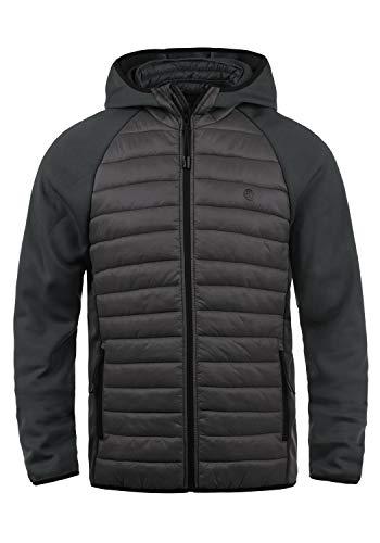 Blend Nils Sporty Herren Steppjacke Übergangsjacke Jacke gefüttert mit Kapuze, Größe:XL, Farbe:Ebony Grey (75111)