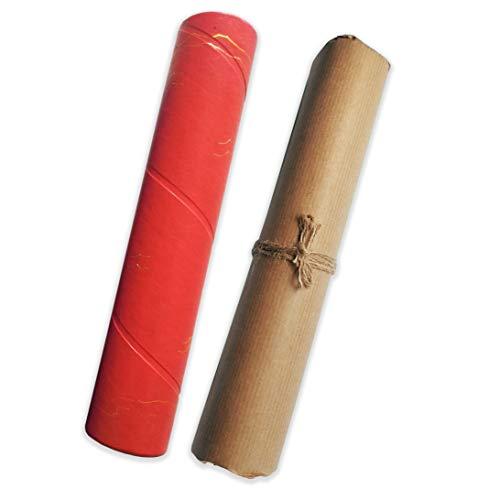 Caleidoscopio hecho a mano | Juguetes educativos para niños | Espejo mágico | Eco - Materiales Reutilizados - Reciclados | Artes y artesanías sostenibles | para niños curiosos (Rojo)