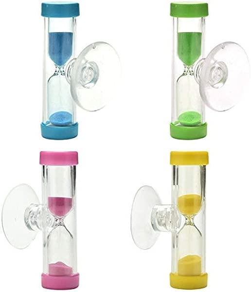 Lessonmart 1 件彩色随机迷你 3 分钟沙漏沙漏时钟计时器刷牙淋浴计时器吸盘