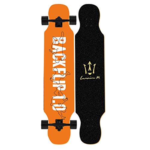 YVX Skateboard Dancing Longboard 42 Zoll Drop Through Freestyle Longboard Skateboard Cruiser 8-lagiger Ahorn, maximal 330 Pfund, Standard Skateboards
