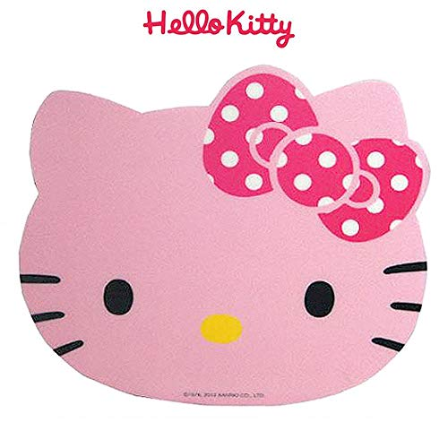 Sanrio Hello Kitty Grip Bottom Computer Mouse Pad 1PC : 2 Designs Available (Pink (Polka Dot Pink Bow))