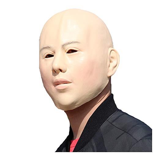 FHUILI Lady Mask Cross-Dressing - Human Latex Maske Lady Weiblicher Kopf-Masken-Halloween-Kostüm-Frauen-Gesichts-Cross-Dressing Sissy Cosplay Partei-Abendkleid