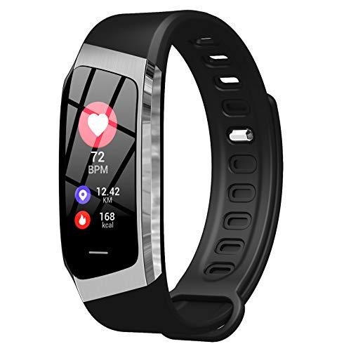 Relojes Inteligentes Smartwatch IP67 con Modos De Deporte,Pulsera Inteligente con Pulsómetro, Blood Pressure, Sueño,Podómetro,Pulsera Deporte para Android Y iOS Teléfono Móvil,E