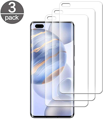 Casecool Protector de Pantalla para Huawei Honor 30 Pro, Cristal Vidrio Templado [3 Piezas], Anti-Huella Anti-Arañazo Alta Transparencia 3D-Touch, 9H Dureza