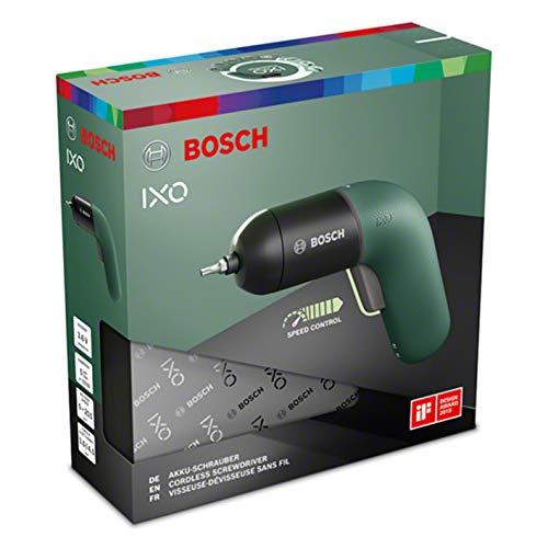 ボッシュ(BOSCH)電動ドライバーコードレス充電式LEDライト無段変速正逆転切替家具の組み立てDIY(モスグリーン・ビット10本・充電器・ケース付き)IXO6