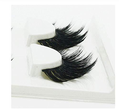 HYTGF Faux Cils Styles Cils 1 boîte 3 Paires 3D Faux Cils Naturel épais entrecroisé Faux Cils Fil à la Main tiges Maquillage Cils
