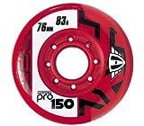 Hyper PRO 150 - Lot de 4 roulettes de rollers en ligne - Rouges - 83A - 80 mm