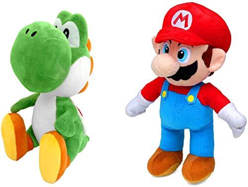 Yoshi - Mario - Mario Cappy - Ice Mario - Ice Luigi Peluche (27-33cm)(18-22cm) (18-22cm, Yoshi-Mario)