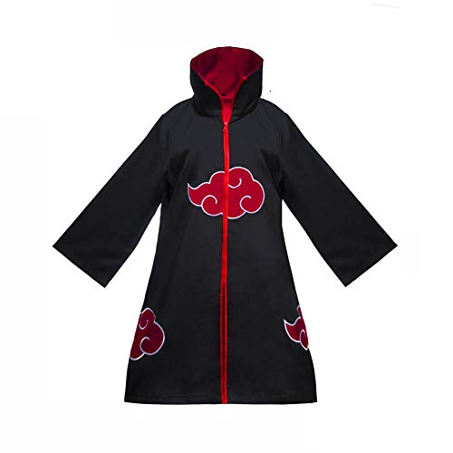 UPEOR Unisex Long Robe Unisex Akatsuki Organization Members Ninja Robe with Headband Halloween Costume Cosplay (Medium) Black