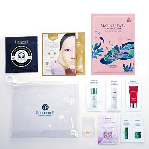 SHANGPREE Premium Mask Signature Set Kit (Gold Premium Modeling Mask (aqua jelly / hydrojelly), Gold Black Pearl Eye Mask (hydrogel 1pair), Marine Jewel Nourishing Mask (sheet) ; Total 3 masks & Special Samples), Premium Korean Skincare