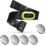 Garmin HRM-Pro, Premium Heart Rate Strap, Real-Time Heart Rate Data and Running Dynamics Black Bundle with 5 Extra Batteries (6 Items)