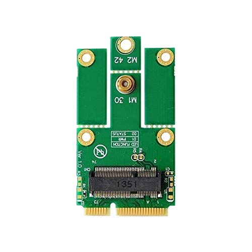 M.2(NGFF)→mini PCI express変換 WiFi+Bluetooth WLAN 無線LANカードなど モジュール用変換アダプタ Key E
