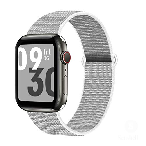 Correa de bucle de nailon para Apple Watch Band 44mm 40mm 4mm 38mm Correa de reloj deportiva transpirable Cinturón de pulsera para Toiwatch Series SE