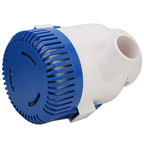 Keenso Boat Bilge Pump, HYBP1-G3000-01 24V Large Horizontal Yacht Automatic Submersible Boat Bilge Water Pump with Float Switch