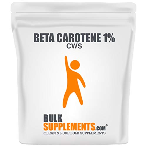 BulkSupplements Beta Carotene 1% (CWS) Powder (100 Grams)