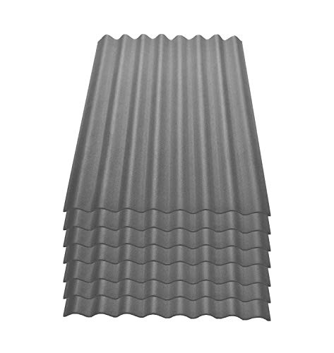 Onduline Easyline Dachplatte Wandplatte Bitumenwellplatten Wellplatte 7x0,76m² - grau