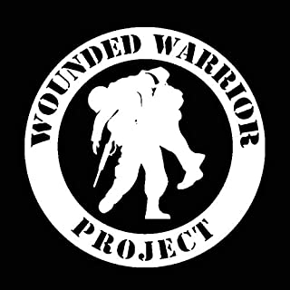 Hitada - 17.8CMx17.8CM WOUNDED WARRIOR PROJECT Vinyl Decal Car Sticker Black Silver C13-000681