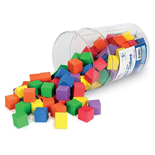 Learning Resources Hands-On Soft Color Cubes, Set of 102, Assorted Colors, Ages 3+