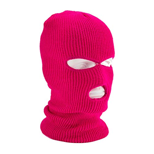 Jackallo Máscara de Punto para Hombres Unisex Mujeres con 3 Agujeros Máscara de Punto Cálida de Invierno Máscara de Esquí Elástica Pasamontañas para Deportes Al Aire Libre Snowboard Motociclismo