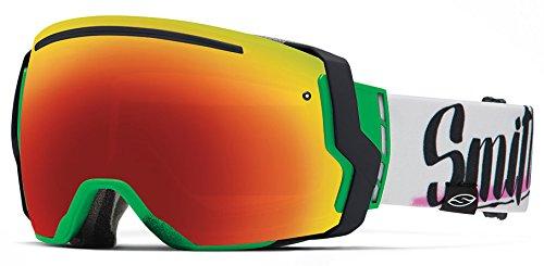Smith Optics I/O7 Vaporator Series Snocross Snowmobile Goggles Eyewear - Neon Baron Von Fancy/Red SOL-X/Blue Sensor/Medium