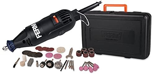 FERM Outil rotatif multifonctions 160W - Avec 40 accessoires et boîte de rangement solide