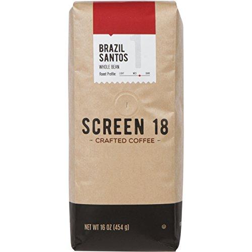 Screen 18 Specialty Grade Premium Brazilian Whole Bean Coffee, Single Origin, Medium Dark Roast, 1 LB