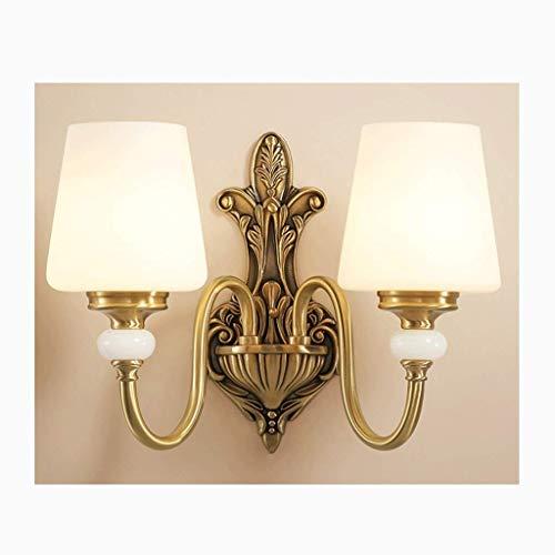 Traditionelle Außenwandleuchte Fixture Veranda Bronze Verziert Scroll Champagne Hammered Glass for Porch Patio - 1-Licht-Wand-Leuchter-Beleuchtung mit weißem Stoffschirm, Wandmontage Lampe in Nickel F