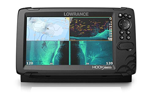 Lowrance HOOK Reveal 9 TripleShot - 9-inch Fish Finder w/Transducer and C-MAP US Inland Mapping Preloaded