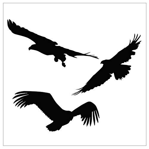 Chaoxiner - Álbum de recortes de silicona transparente con diseño de pájaro volando negro