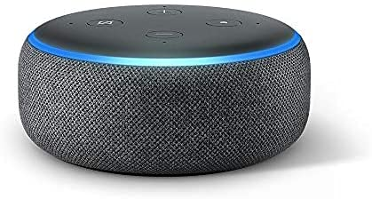 CQLM Echo Dot (3rd Gen) Smart Speaker with Alexa, Charcoal Fabric
