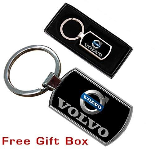 for Volvo Toyota Lexus BMW Cadillac VW Portachiavi in Pelle per Auto con Logo per Mercedes Nero Ford MIKAFEN Honda