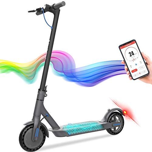 GEARSTONE Elektro Scooter Faltbarer E-Scooter aus Luftfahrtaluminium (Appanbindung, max. Geschwindigkeit 20-25km/h, max Belastung 120kg) (Schwarz01)