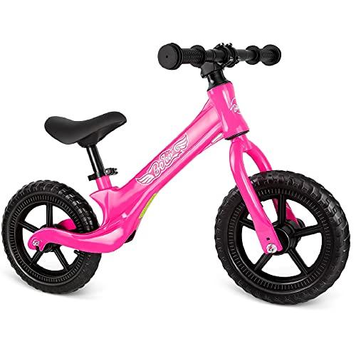 Beleev Balance Bike Aluminum Alloy, No Pedal Toddler Bike Adjustable Seat,...