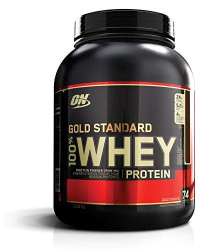Optimum Nutrition ON Gold Standard Whey Protein Pulver, Eiweißpulver Muskelaufbau mit Glutamin und...